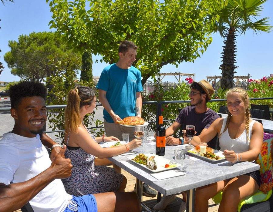 Camping Le Mas Des Lavandes : Restaurant Camping